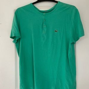 Teal Lacoste tee